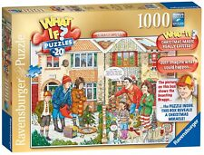 NEW! Ravensburger What if? 20 Christmas Lights 1000 piece comic cartoon jigsaw