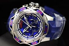 Invicta Men's 52mm Reserve VENOM Quartz Chrono Silver Blue Strap SS Watch