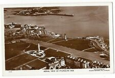 PLYMOUTH HOE Aerial View, RP Postcard Unused, Spelling Mistake in Caption
