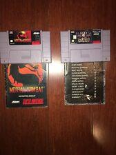 Snes Mortal Kombat Combo, 1 And Ultimate