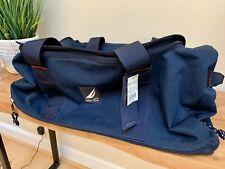 "NAUTICA NS-83 Duffle Bag 22"" Navy Blue Carry On NWT Rare!"