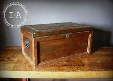 Vintage Industrial Handmade Wooden Chest Toolbox