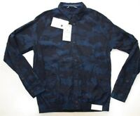 Zara for mens new camouflage jacket jumper cardigan colour blue size M L XL