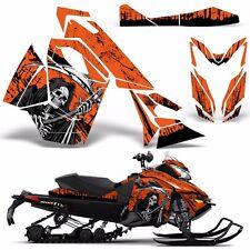 Decal Graphic Wrap Kit Ski Doo Sled Snowmobile REV XS Renegade MXZ 13+ REAP ORNG