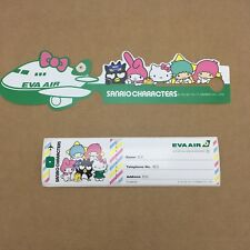 EVA AIR Taiwan Airlines Sanrio Hello Kitty Luggage Tag & Sticker