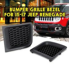 For Jeep Renegade 2015-17 Left+Right Front Lower Bumper Grill Grille Bezel Cover