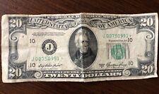 1950 $20 Twenty Dollar Bill Federal Reserve Note..Serial # J00750991