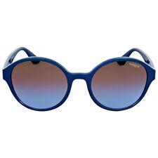 Vogue Petroleum Green Round Gradient Sunglasses