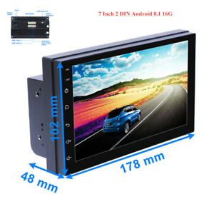 7Inch Dual 2DIN Android 8.1 HD Touch Screen 16GB Car Stereo Radio GPS MP5 Player