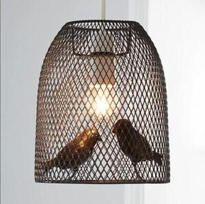 New Fashionable Stylish Metal Mesh Design Livry Bird Grey Easy Fit Pendant M-21