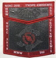 Boy Scout OA 502 T'kope Kwiskwis Lodge 2018 NOAC Delegate Set *50 Made*