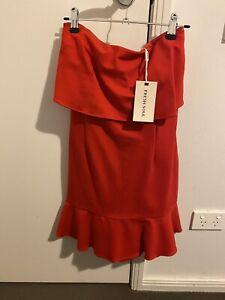 Fresh Soul Red Strapless Mini Dress New Size 12 BNWT RRP 119.95