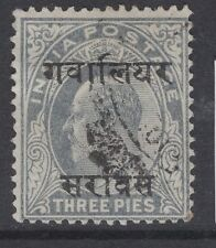 INDIA-GWALIOR SGO29 1903 3p PALE GREY USED