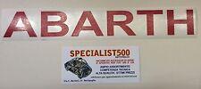 FIAT 500 F/L/R SCRITTA ROSSA ADESIVA ABARTH  37x5 cm circa
