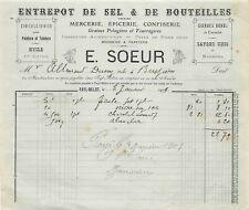 Faacture - Warehouse of Salt & Bottles a. S. E. a. N.Sister to Fayl-Billot 1909
