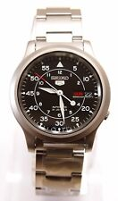 SNK809K1 SEIKO 5 Stainless Steel Band Automatic Men's Black Watch SNK809 New