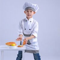 New Children Chef Set Comfort Kitchen Tops Hat Apron Boys Girls Cosplay Clothes