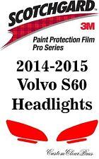 3M Scotchgard Paint Protection Film Pro Series Headlight Kit 2014 2015 Vovlo S60