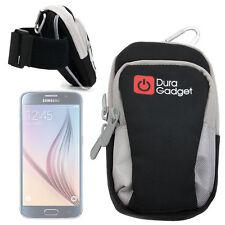 Black/Grey Sports Phone Case / Holder W/ Pockets for Samsung Galaxy S6 / S6 Edge