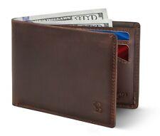 SERMAN BRANDS Mens Slim Bifold Wallet RFID Blocking Minimalist Front Pocket