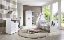 Babyzimmer Kinderzimmer komplett Set Babymöbel Komplettset umbaubar KIM 1 weiß