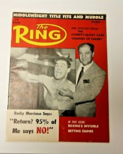 THE RING NOV 1959 ROCKY MARCIANO COVER BOXING MAGAZINE RARE COOL GOOD CONDITION