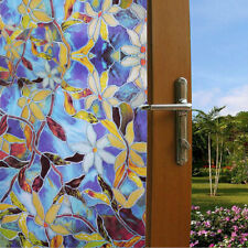 USA Static Cling Frosted Stained Flower Privacy Glass Window Film Sticker Decor