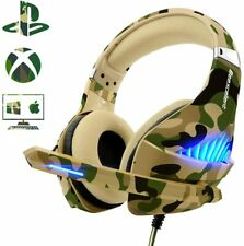 Beexcellent Deep Bass GM-500 Gaming Headset Camo for PS4 Xbox One PC, Mic, LED