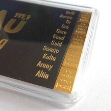 5 Gramm CombiBar 5 x 1 Gramm Tafelbarren Valcambi Gold 999,9 Barren