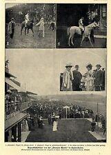 """Pferderennen* von der """"Grossen Woche"""" in Bafen- Baden Bilddokumente von 1901"""