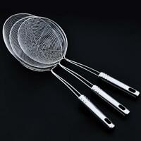 Soup Ladle Spoon Stainless Steel Spoon Skimmer Strainer Mesh Filter Kitchen Pro