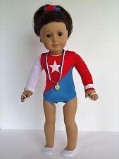 "Star Gymnastics Set Fits American Girl 18"" Doll Clothes"