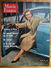 Marie France n°512 Octobre 1954  Octobre à Paris