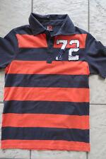 JOHN DEVIN Polo-Shirt S,Polohemd 44 46 170,T-Shirt blau orange,Kurzarm Hemd m 72