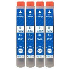 4 Cyan XL Ink Cartridges for Epson Expression Premium XP-530, XP-635, XP-7100