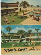 CB-246 FL, Daytona Beach, Monte Carlo Beach Motel Chrome Postcard Multiview