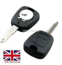 NEW 2 BUTTON REMOTE KEY CASE FOR PEUGEOT 106 107 206 207 307 + LOGO A57