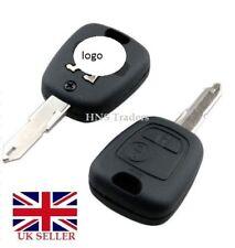 NEW 2 Boutons Remote Key Case pour PEUGEOT 106 107 206 207 307 + logo A57