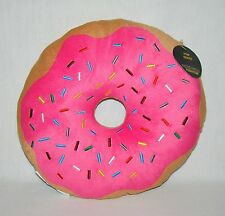 Pink Donut Expressions Plush Pillow