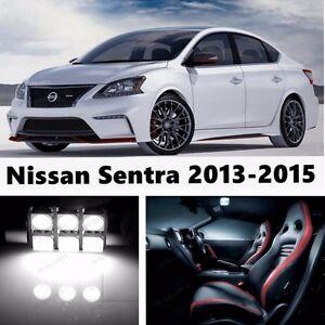 8pcs LED Xenon White Light Interior Package Kit for Nissan Sentra 2013-2015