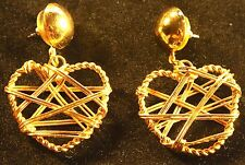 Golden heart fashion earings