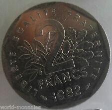 2 francs semeuse 1982 : TTB : pièce de monnaie française