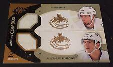 RYAN KESLER ALEXANDRE BURROWS 2010-11 SPx Winning Combos DUAL Game JERSEY NHL