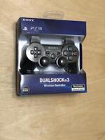 NEW Original Official Genuine Sony PS3 Wireless Dualshock 3 Controller (Black)