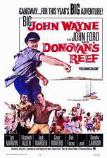 DONOVAN'S REEF Movie POSTER 27x40 John Wayne Lee Marvin Jack Warden Elizabeth