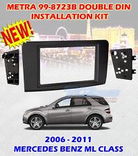 2006 - 2011 MERCEDES BENZ ML CLASS DOUBLE DIN CAR STEREO INSTALLATION DASH KIT