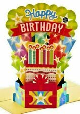Hallmark Musical Wonderfolds Displayable Birthday Card Lights Up + 3D Pop Up