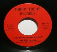 The Rebel Rousers - The Ballad Of Archie Who - 45 rpm - Archie Manning Song - MI
