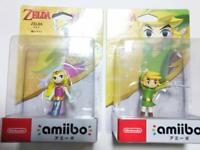 Amiibo The Legend of Zelda Toon Link and Zelda The Wind Waker Nintendo Japan