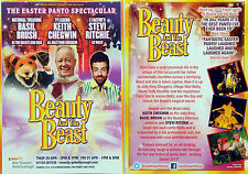 BEAUTY AND THE BEAST PANTO FLYERS X 2 - KEITH CHEGWIN BASIL BRUSH STEVI RITCHIE